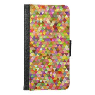 Capa Carteira Para Samsung Galaxy S6 Triângulos felizes do verão