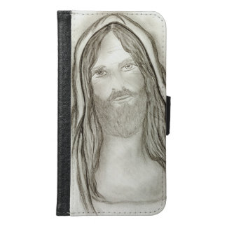 Capa Carteira Para Samsung Galaxy S6 Um Jesus solene