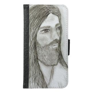 Capa Carteira Para Samsung Galaxy S6 Um Jesus solene II
