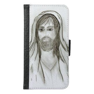 Capa Carteira Para Samsung Galaxy S6 Um Jesus vestido com robe