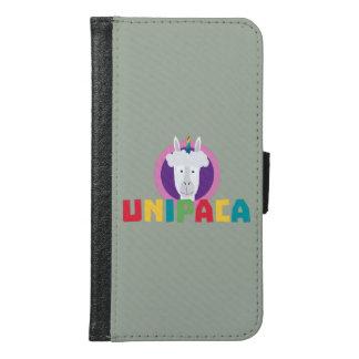 Capa Carteira Para Samsung Galaxy S6 Unicórnio Unipaca Z4srx da alpaca