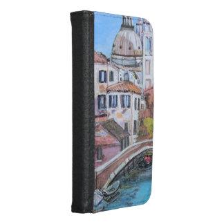 Capa Carteira Para Samsung Galaxy S6 Veneza - caixa da carteira da galáxia S6