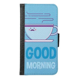 Capa Carteira Para Samsung Galaxy S6 Viciados do café do bom dia