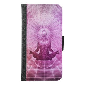 Capa Carteira Para Samsung Galaxy S6 Zen espiritual da meditação da ioga colorido