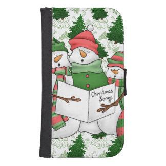 Capa Carteira Para Samsung S4 3 Carolers do boneco de neve