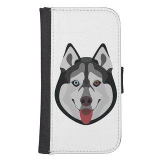 Capa Carteira Para Samsung S4 A ilustração persegue o rouco Siberian da cara