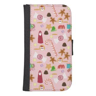 Capa Carteira Para Samsung S4 Bastões e chocolates de doces no rosa
