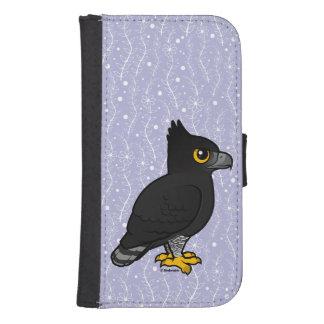 Capa Carteira Para Samsung S4 Birdorable Falcão-Eagle preto