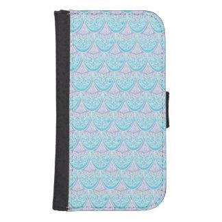 Capa Carteira Para Samsung S4 Escalas cor-de-rosa da sereia, boho, hippie,