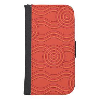 Capa Carteira Para Samsung S4 Fogo aborígene da arte