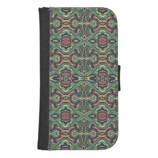 Capa Carteira Para Samsung S4 Mão colorida abstrata design encaracolado tirado