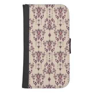 Capa Carteira Para Samsung S4 Ornamento asteca tribal étnico do vintage