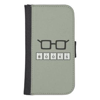 Capa Carteira Para Samsung S4 Registra os vidros Zh6zg do nerd do elemento