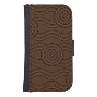 Capa Carteira Para Samsung S4 Solo aborígene da arte
