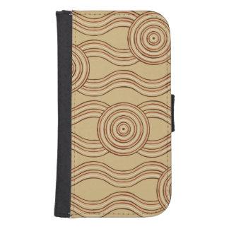 Capa Carteira Para Samsung S4 Terra aborígene da arte