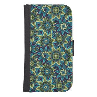 Capa Carteira Para Samsung S4 Teste padrão floral étnico abstrato colorido da