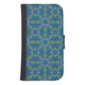 Capa Carteira Para Samsung S4 Teste padrão floral étnico abstrato colorido de da