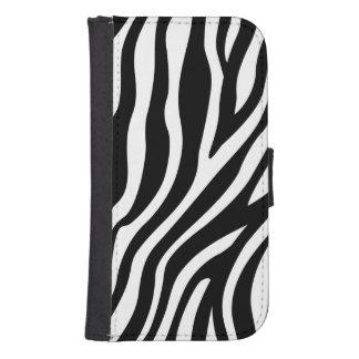 Capa Carteira Para Samsung S4 Teste padrão preto e branco das listras do