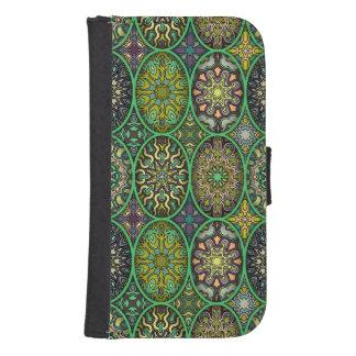 Capa Carteira Teste padrão floral étnico abstrato colorido da
