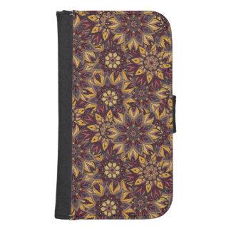 Capa Carteira Teste padrão floral étnico abstrato colorido de da