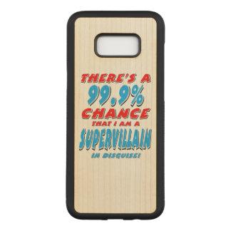 Capa Carved Para Samsung Galaxy S8+ 99,9% Eu sou um BANDIDO SUPER (o preto)