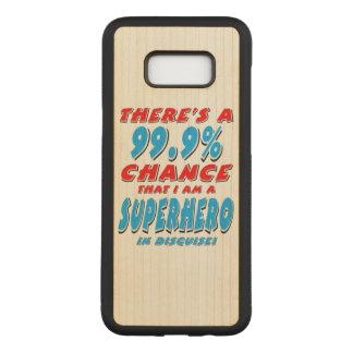 Capa Carved Para Samsung Galaxy S8+ 99,9% Eu sou um SUPER-HERÓI (o preto)