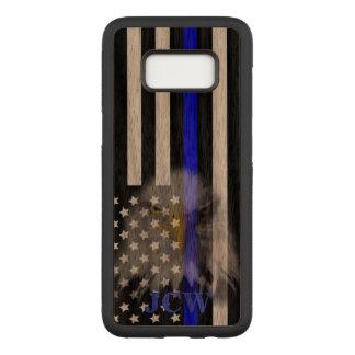 Capa Carved Para Samsung Galaxy S8 A polícia embandeira Eagle desvanecido | |