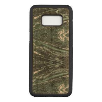 Capa Carved Para Samsung Galaxy S8 A textura de pedra de mármore verde Samsung de
