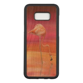 Capa Carved Para Samsung Galaxy S8+ Acrobata do flamingo