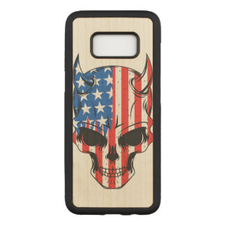 Capa Carved Para Samsung Galaxy S8 Americano Hellion