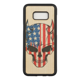 Capa Carved Para Samsung Galaxy S8+ Americano Hellion
