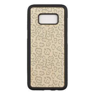Capa Carved Para Samsung Galaxy S8 Animal cinzento do gato de leopardo da neve