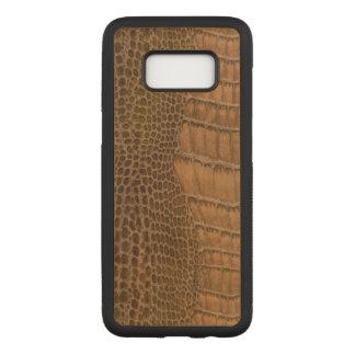 Capa Carved Para Samsung Galaxy S8 Animal de imitação do Vegan do falso do crocodilo