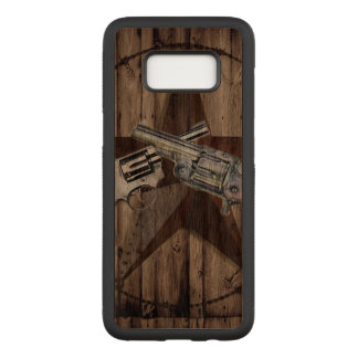 Capa Carved Para Samsung Galaxy S8 arma dupla rústica do país ocidental do vaqueiro