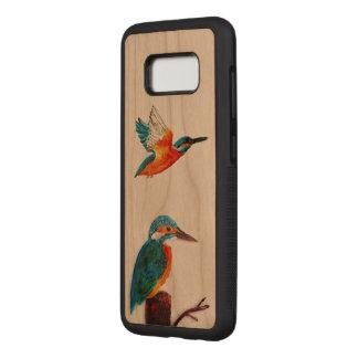 Capa Carved Para Samsung Galaxy S8 Arte do pássaro de dois martinhos pescatorees