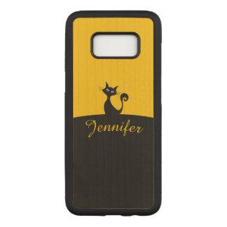 Capa Carved Para Samsung Galaxy S8 Arte mínima do gato preto, seu nome