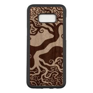 Capa Carved Para Samsung Galaxy S8+ Árvore de madeira de Yin Yang