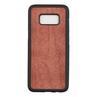 Capa Carved Para Samsung Galaxy S8 Aumentou a caixa floral da madeira de Samsung da