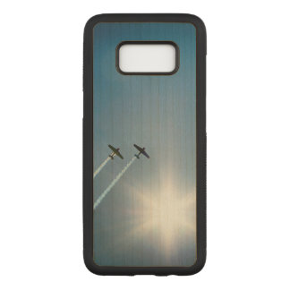 Capa Carved Para Samsung Galaxy S8 Aviões que voam no céu azul com Sun.