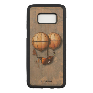 Capa Carved Para Samsung Galaxy S8 Balão de ar retro de Steampunk do vintage com