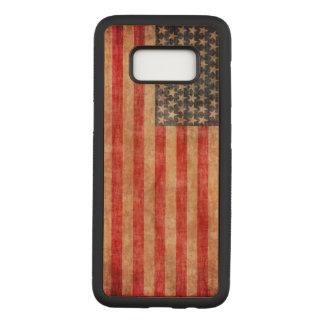 Capa Carved Para Samsung Galaxy S8 Bandeira americana envelhecida