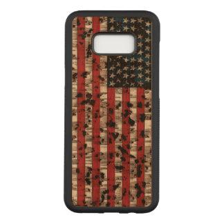 Capa Carved Para Samsung Galaxy S8+ Bandeira americana envelhecida