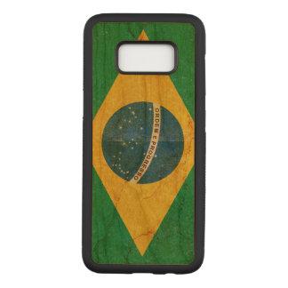 Capa Carved Para Samsung Galaxy S8 Bandeira de Brasil do Grunge do vintage