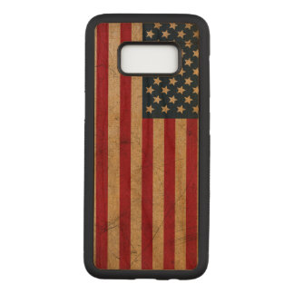 Capa Carved Para Samsung Galaxy S8 BANDEIRA dos EUA do Grunge do vintage