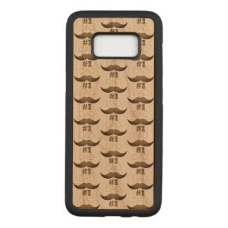 Capa Carved Para Samsung Galaxy S8 Bigode rústico de Brown do pai #1 - número um