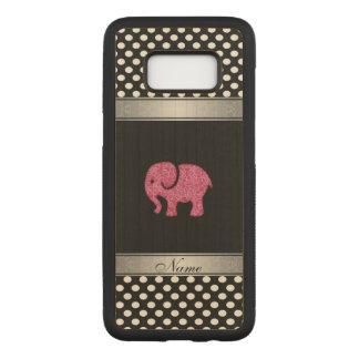 Capa Carved Para Samsung Galaxy S8 Bolinhas adorble bonitos cor-de-rosa do elefante