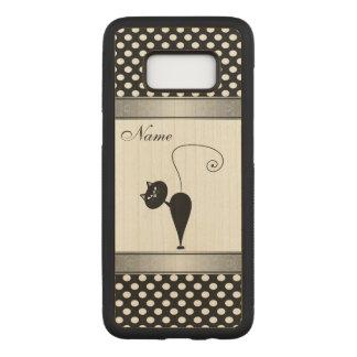 Capa Carved Para Samsung Galaxy S8 Bolinhas bonitos adoráveis engraçadas do gato