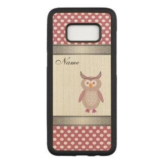 Capa Carved Para Samsung Galaxy S8 bolinhas bonitos femininos engraçadas da coruja