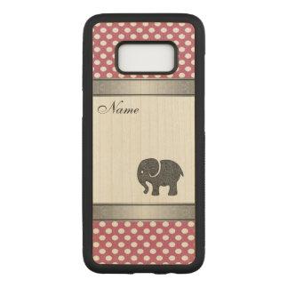 Capa Carved Para Samsung Galaxy S8 Bolinhas na moda elegantes do elefante