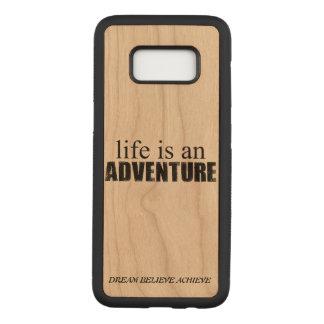 Capa Carved Para Samsung Galaxy S8 Caixa de madeira da galáxia S8 de Samsung da